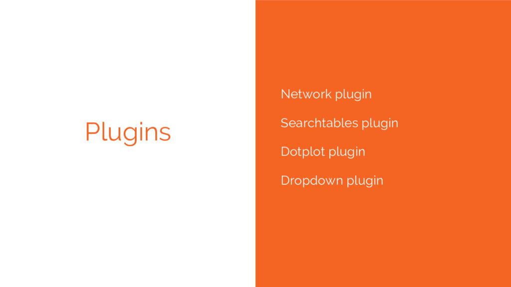 Plugins Network plugin Searchtables plugin Dotp...