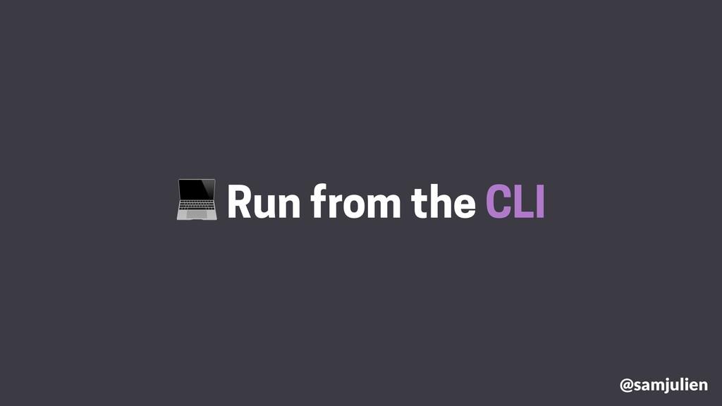 Run from the CLI @samjulien