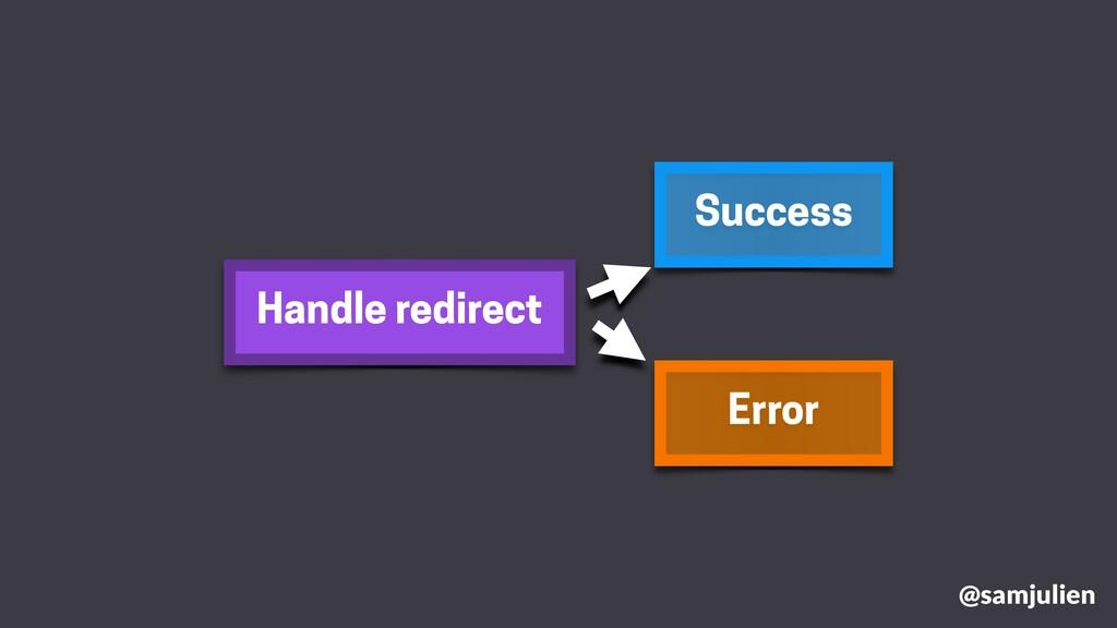 Handle redirect Success Error @samjulien