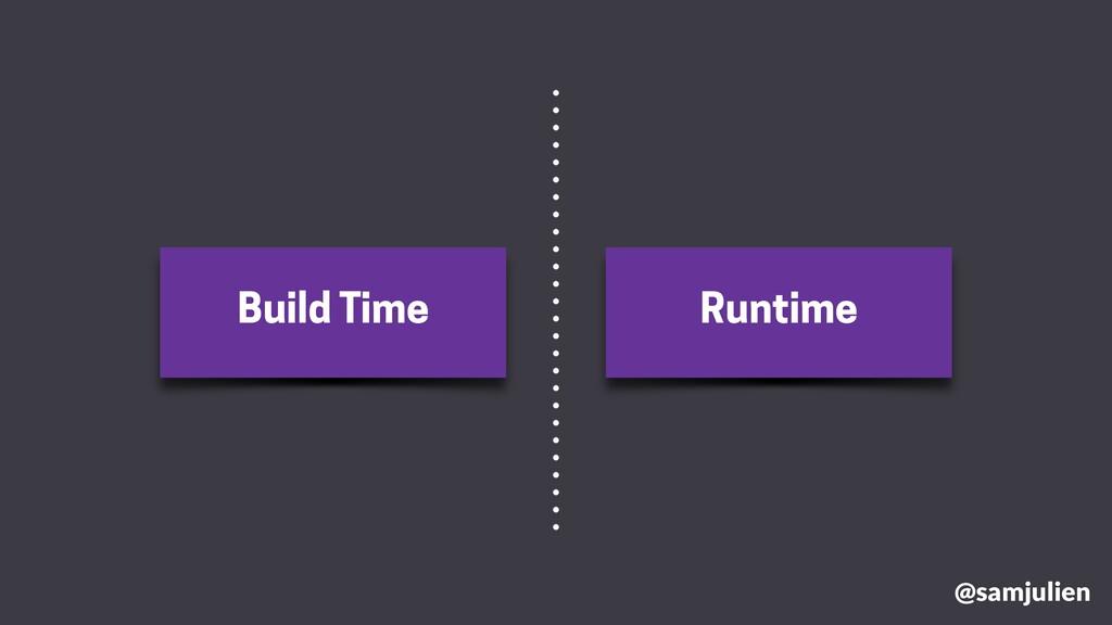 Build Time Runtime @samjulien