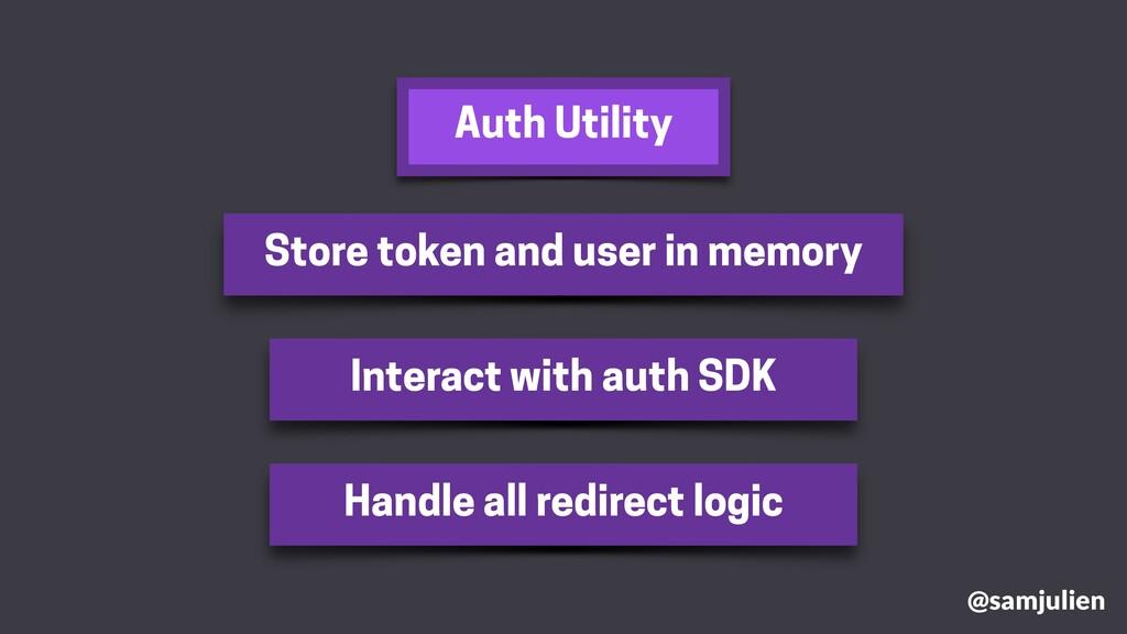 @samjulien Store token and user in memory Inter...