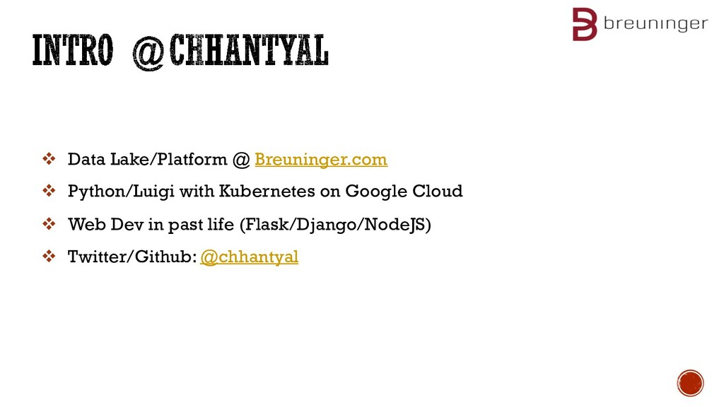 v Data Lake/Platform @ Breuninger.com v Python/...