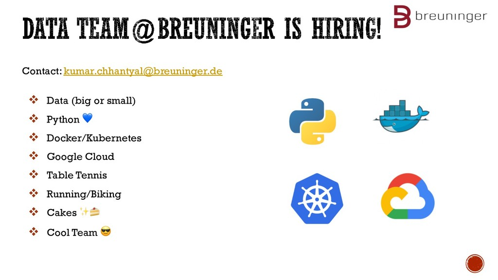 Contact: kumar.chhantyal@breuninger.de v Data (...