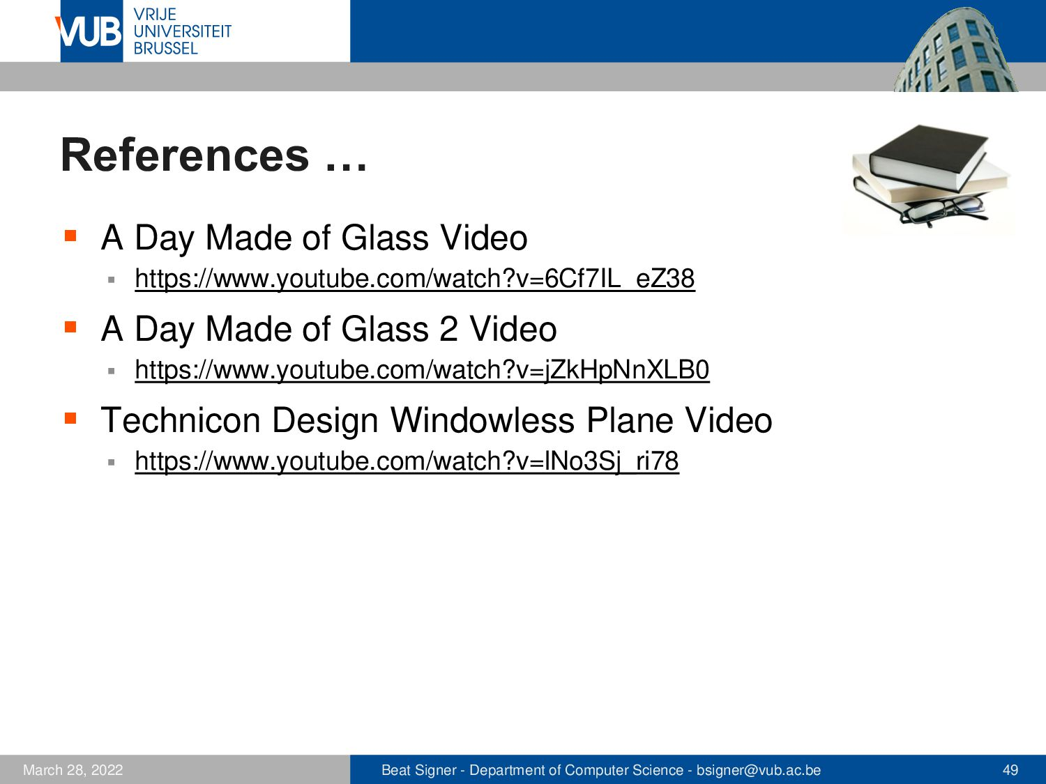 2 December 2005 Next Lecture Gesture-based Inte...