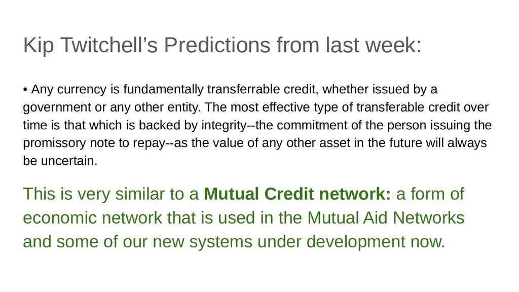 Kip Twitchell's Predictions from last week: • A...