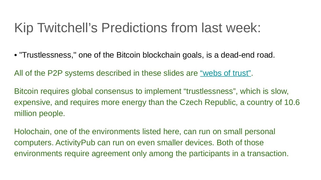 """Kip Twitchell's Predictions from last week: • """"..."""