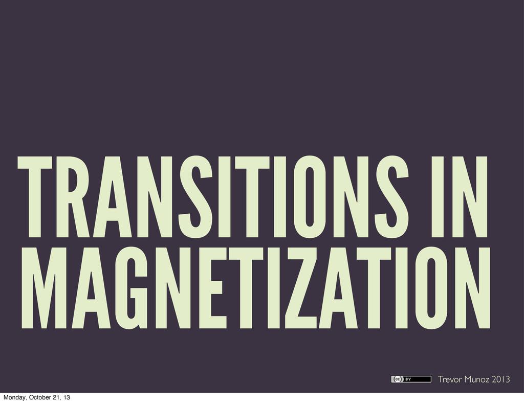 Trevor Munoz 2013 TRANSITIONS IN MAGNETIZATION ...