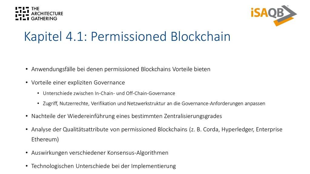 Kapitel 4.1: Permissioned Blockchain • Anwendun...