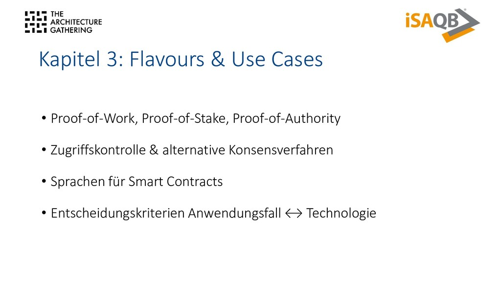 Kapitel 3: Flavours & Use Cases • Proof-of-Work...