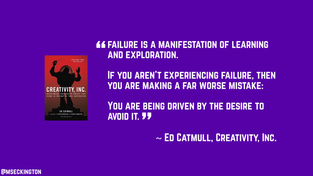 failure is a manifestation of learning and expl...