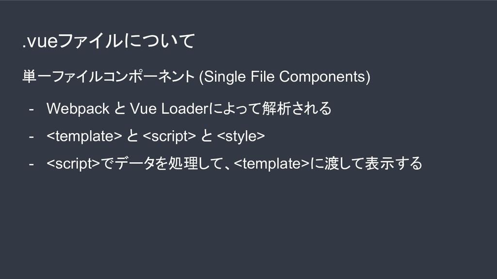 .vueファイルについて 単一ファイルコンポーネント (Single File Compone...