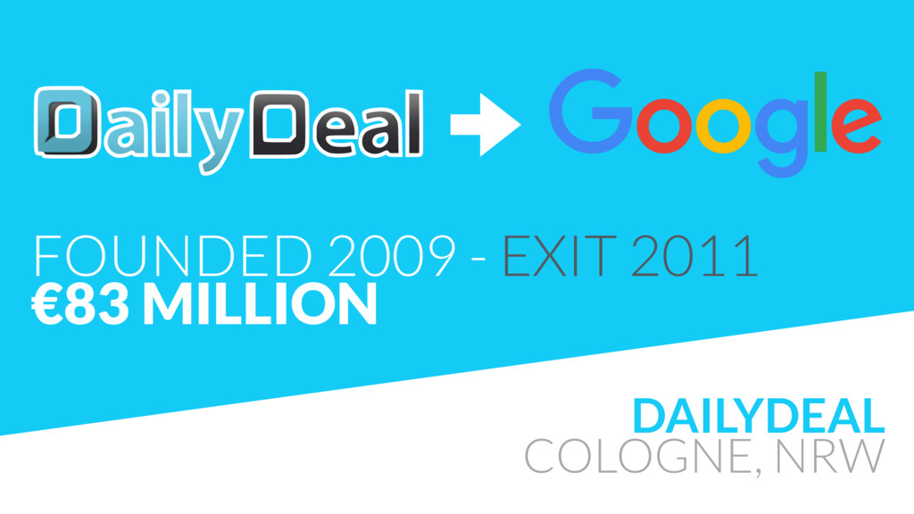 DAILYDEAL COLOGNE, NRW FOUNDED 2009 - EXIT 2011...