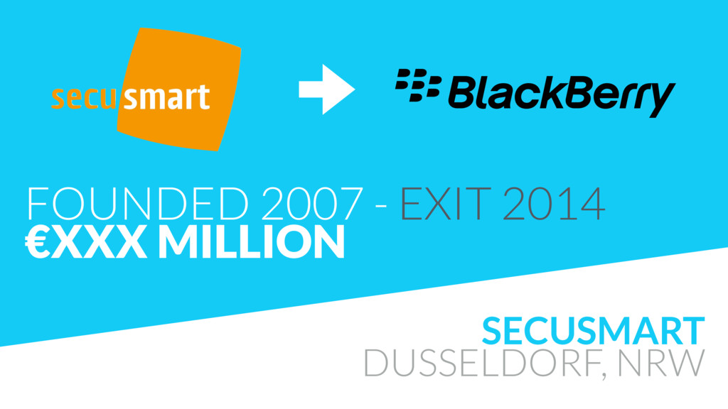 SECUSMART DUSSELDORF, NRW FOUNDED 2007 - EXIT 2...