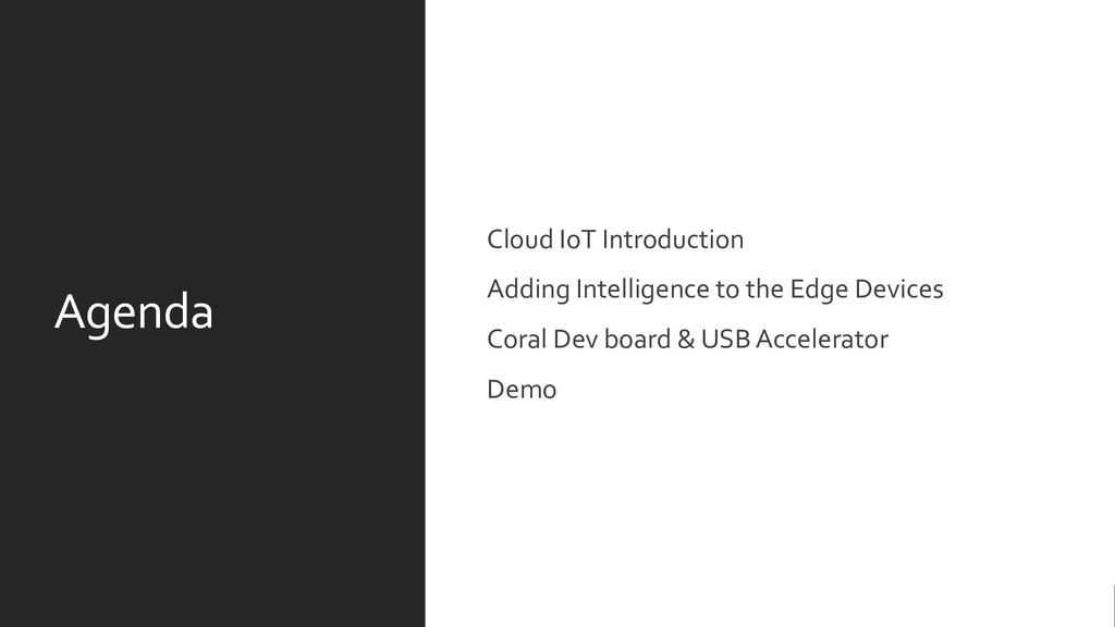 Agenda Cloud IoT Introduction Adding Intelligen...