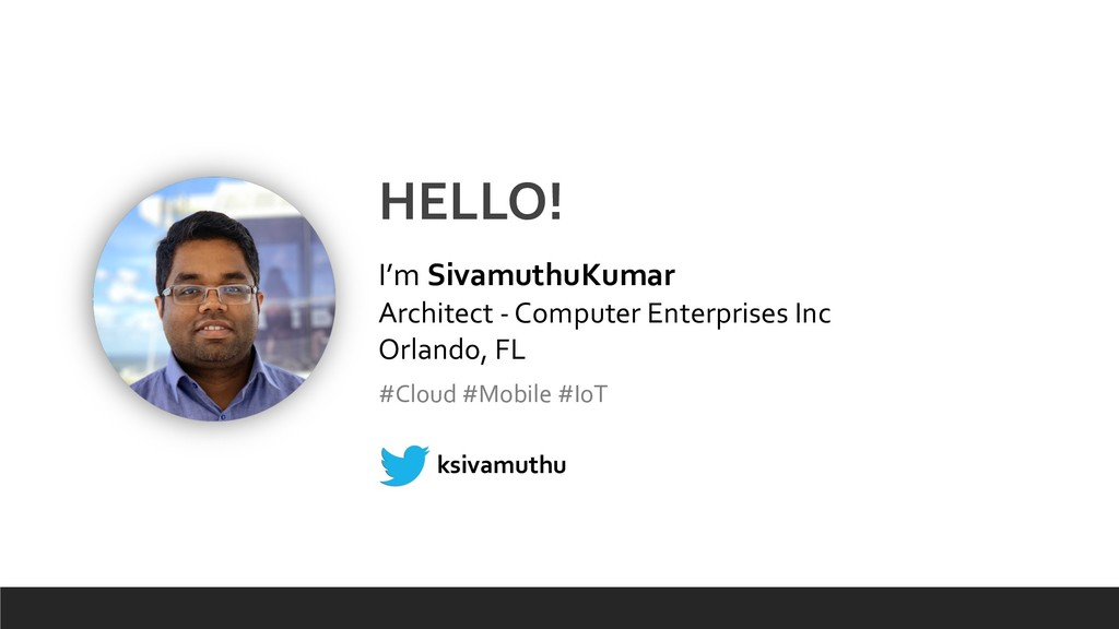 HELLO! I'm SivamuthuKumar Architect - Computer ...