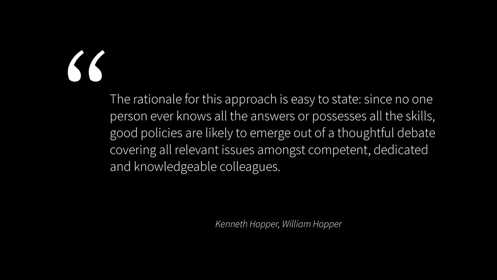 Kenneth Hopper, William Hopper The rationale fo...