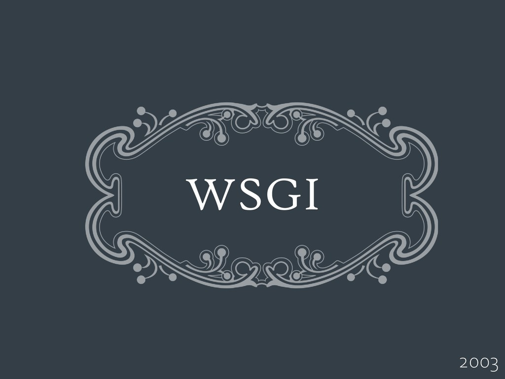 WSGI 2003