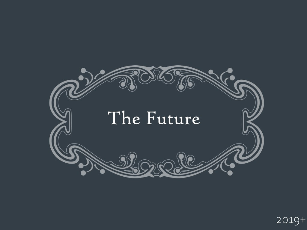 The Future 2019+
