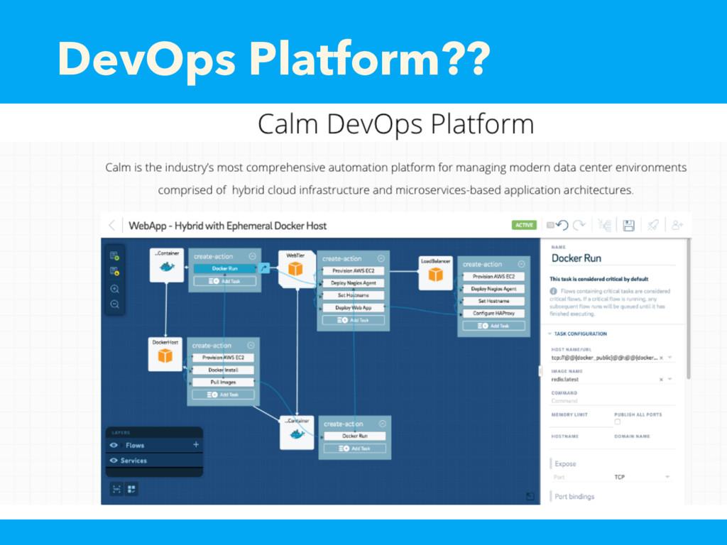 DevOps Platform??