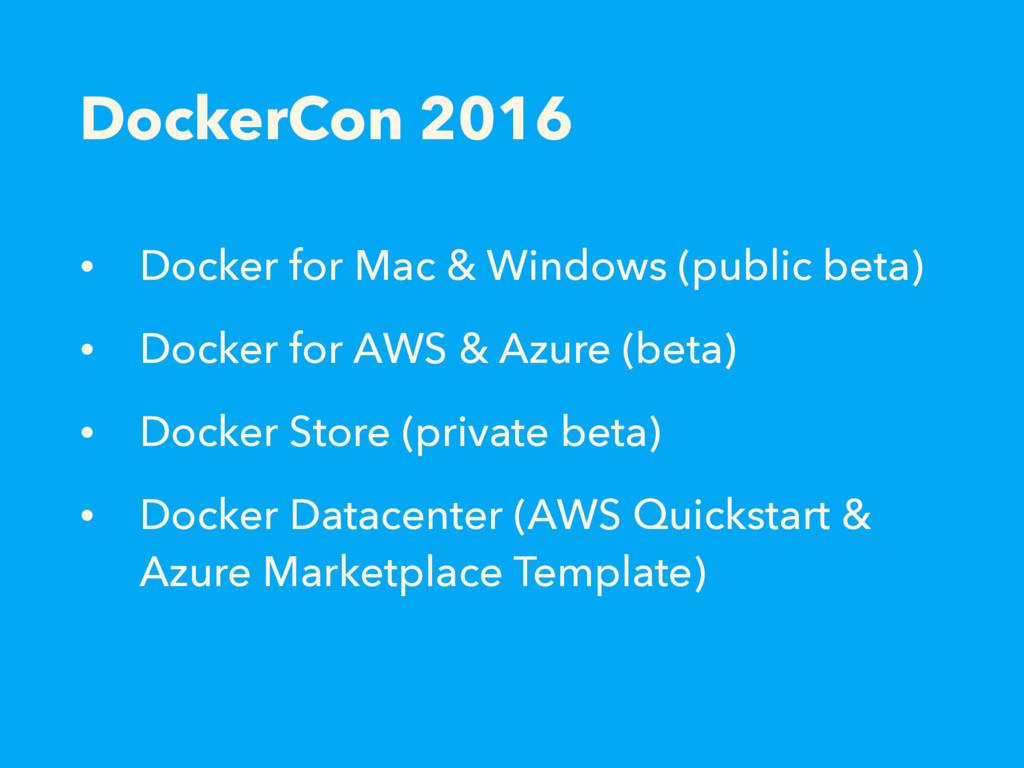 DockerCon 2016 • Docker for Mac & Windows (publ...