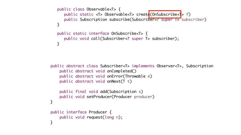 public class Observable<T> { public static <T> ...