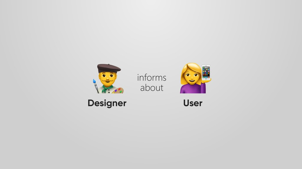 Designer User informs about