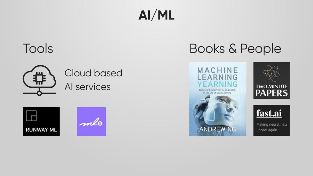 AI/ML Tools Cloud based AI services Books & Peo...