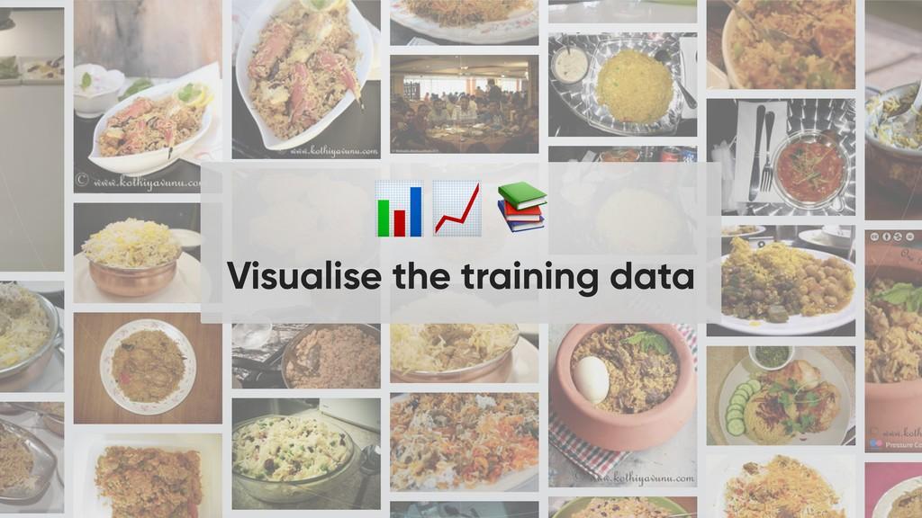 Visualise the training data