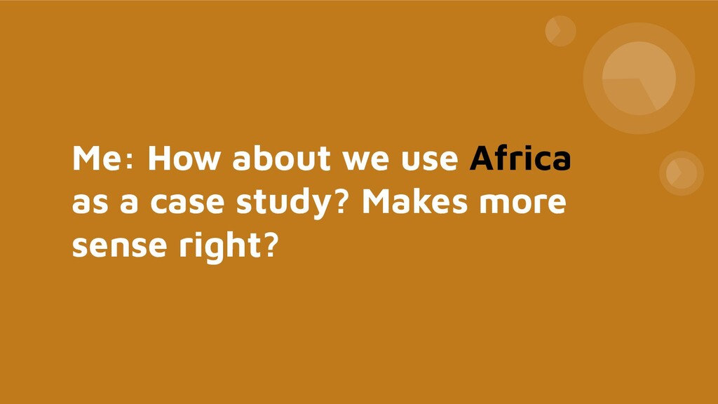 Me: How about we use Africa as a case study? Ma...