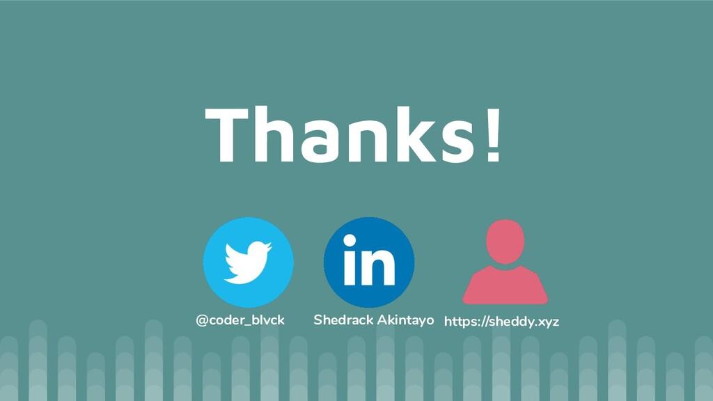 Thanks! @coder_blvck Shedrack Akintayo https://...