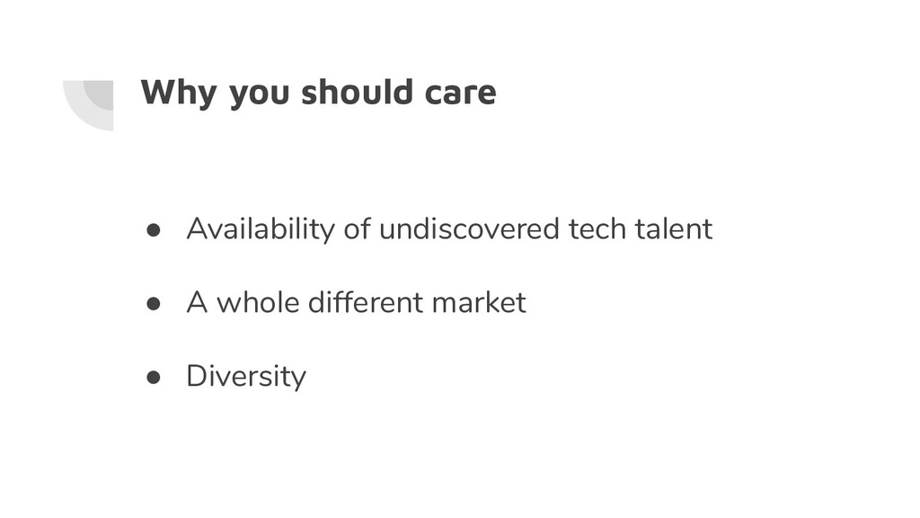 Why you should care ● Availability of undiscove...