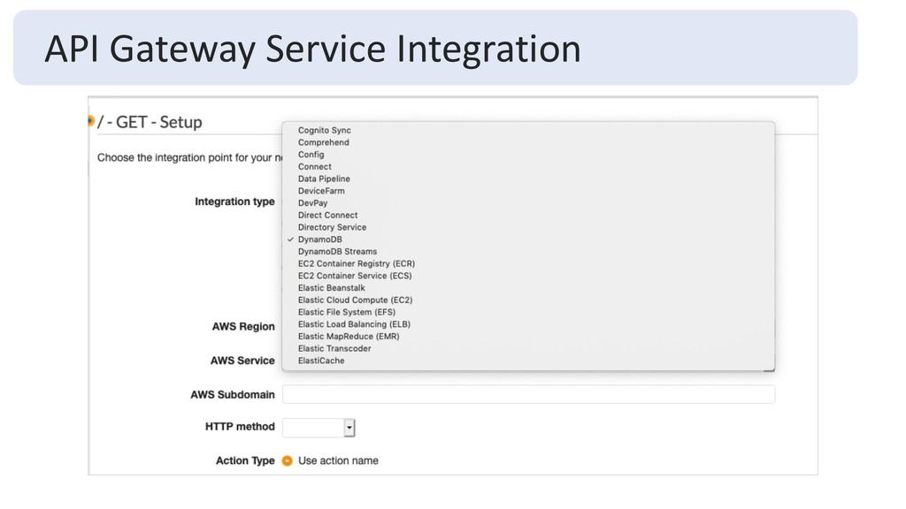 API Gateway Service Integration