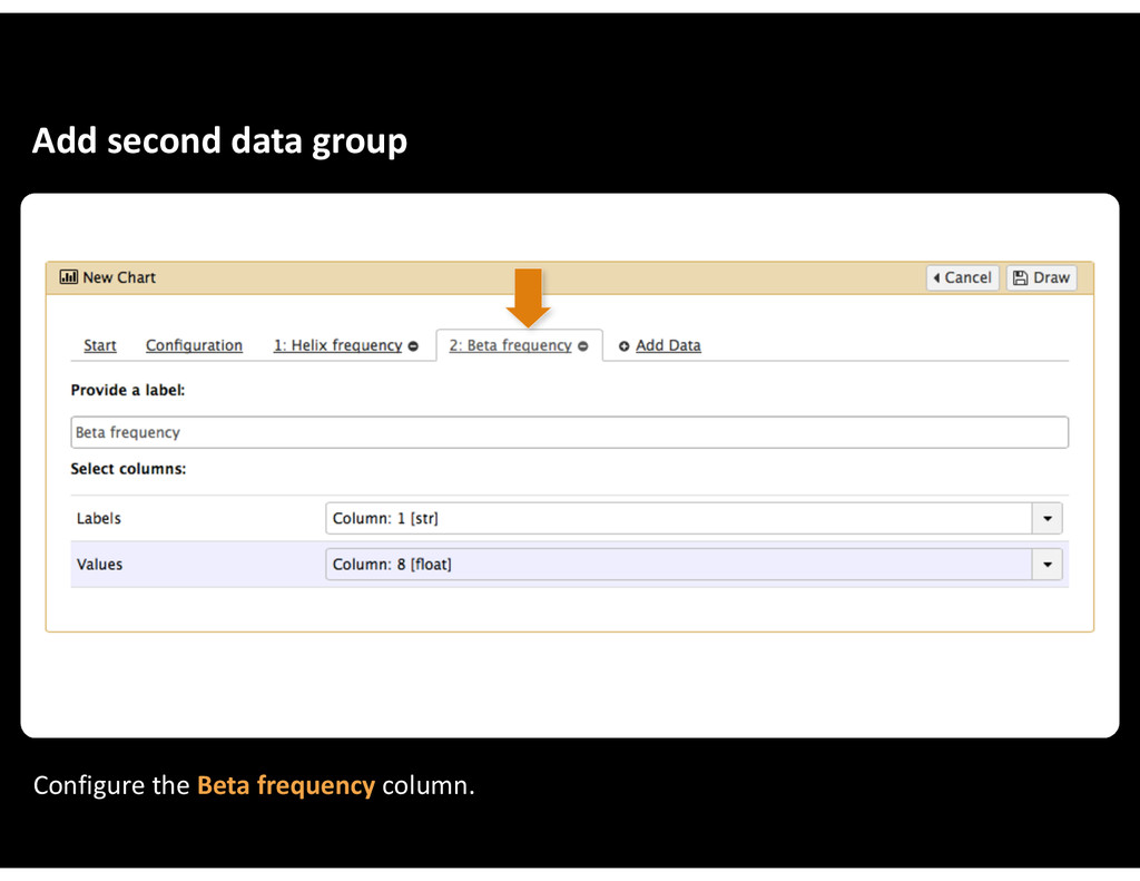 Add&second&data&group Configure&the&Beta&freque...