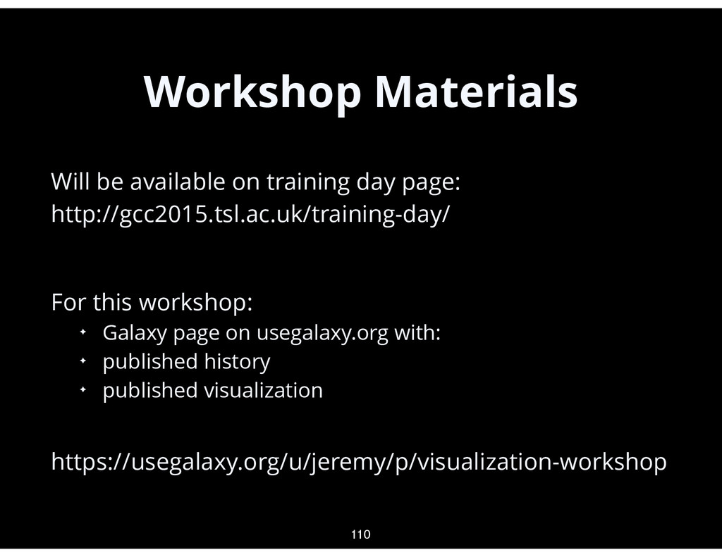 Workshop Materials • Will be available on train...