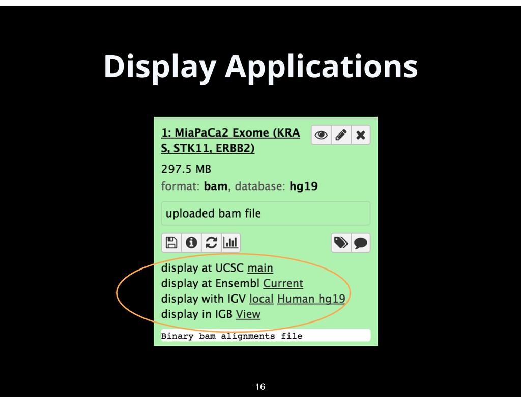 Display Applications 16