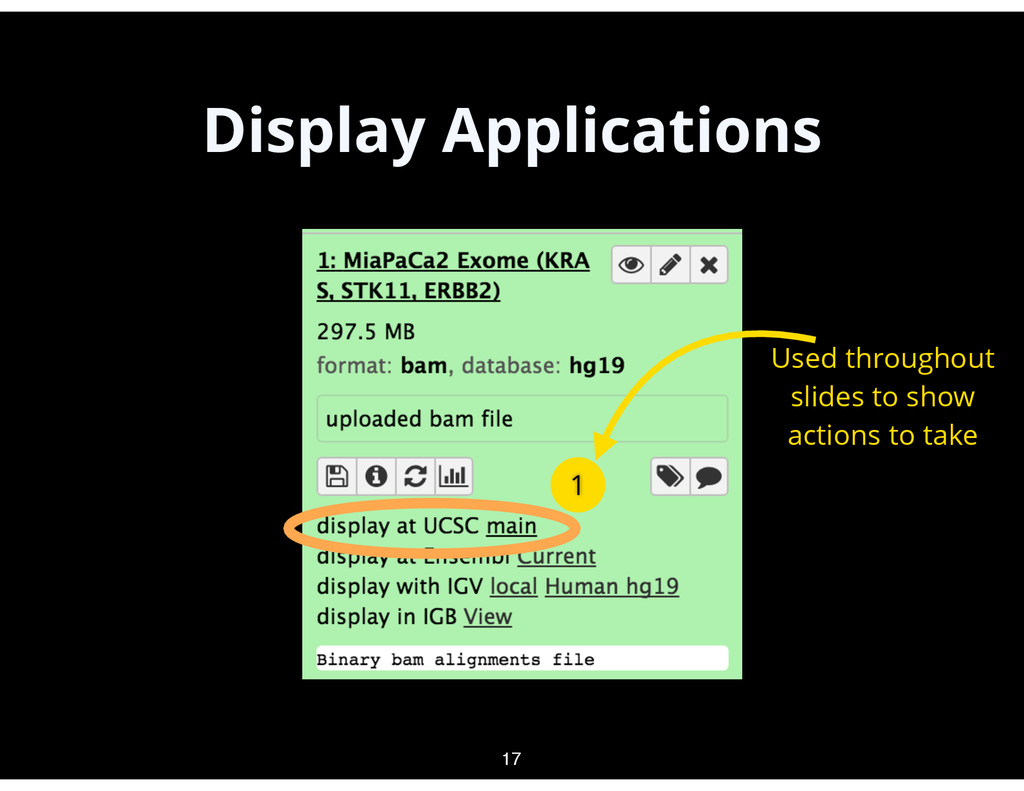 Display Applications 17 1 Used throughout slide...