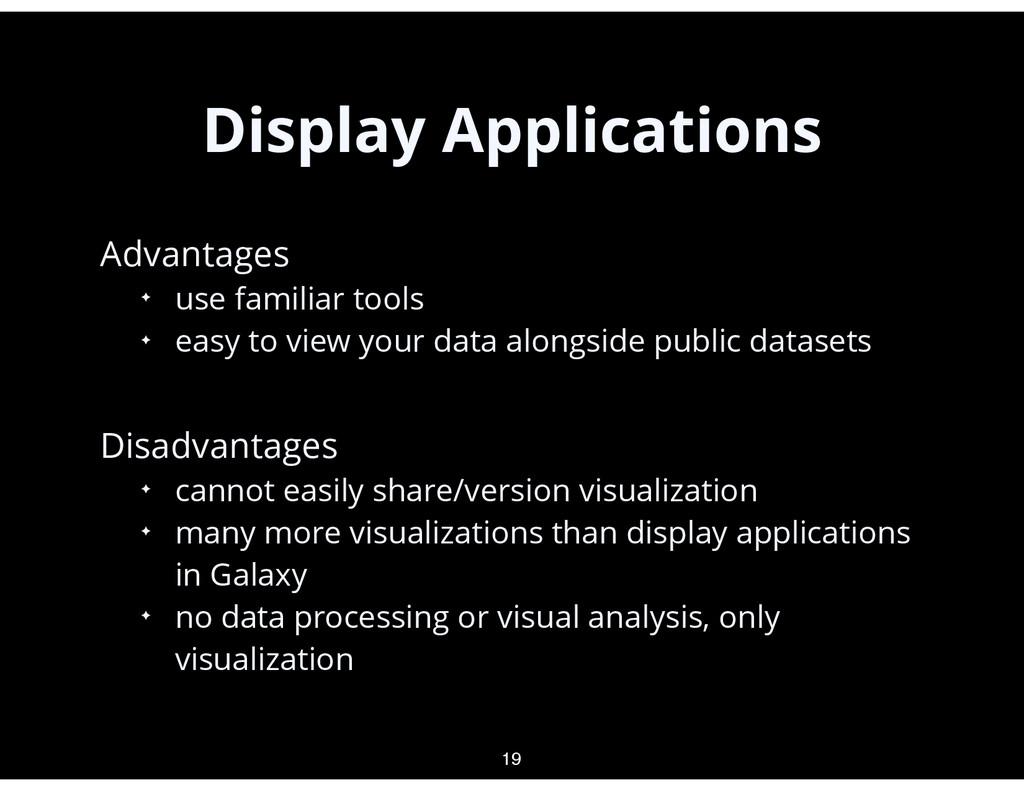 Display Applications • Advantages ✦ use familia...