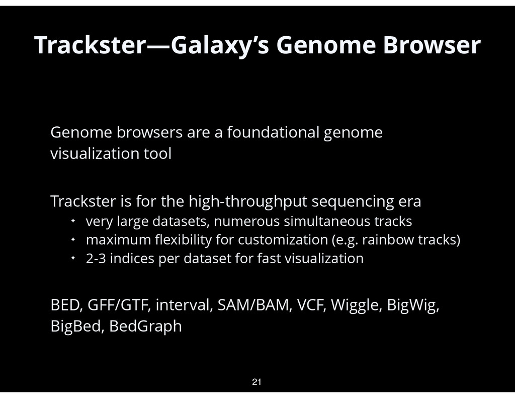 • Genome browsers are a foundational genome vis...