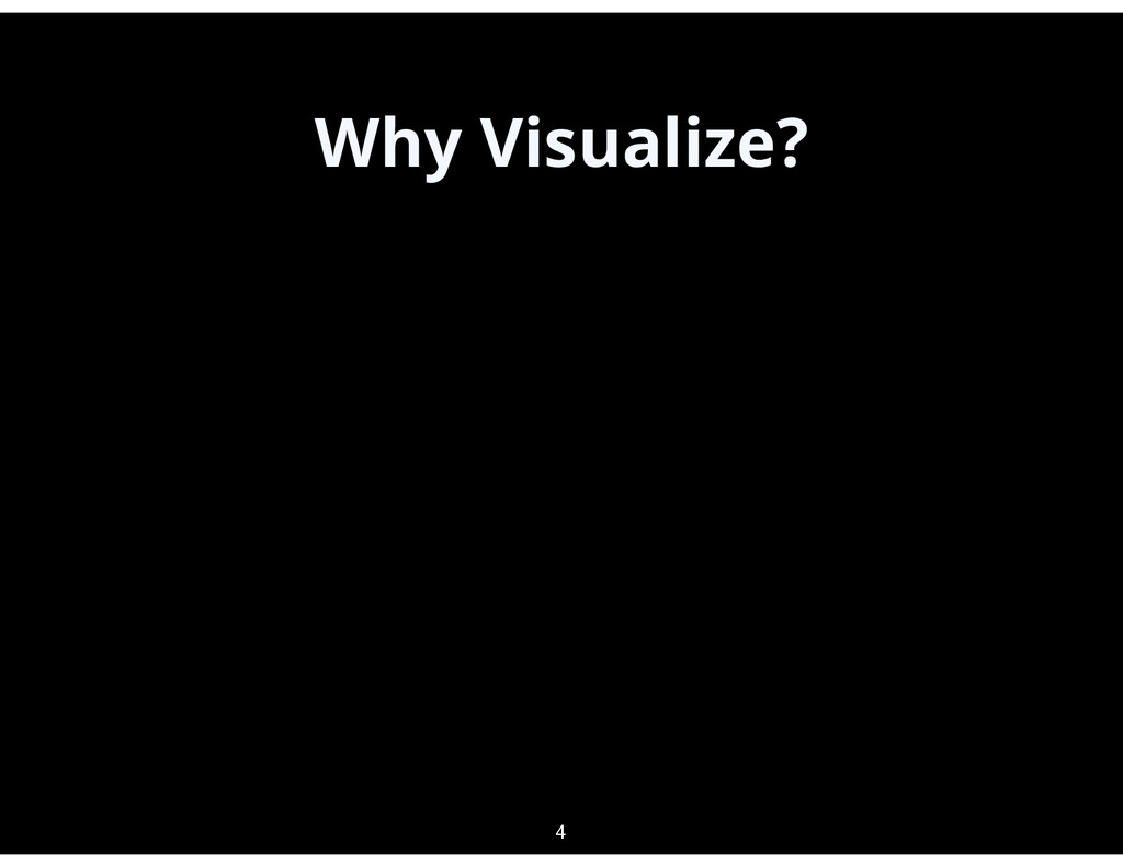 Why Visualize? 4