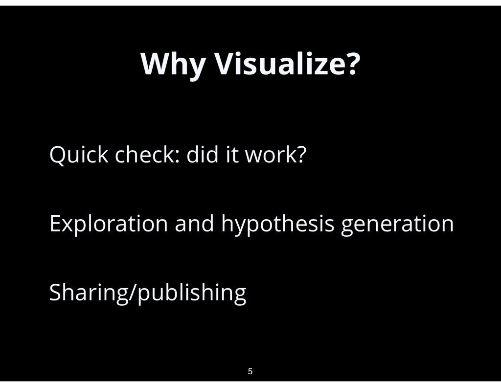 Why Visualize? • Quick check: did it work? • Ex...