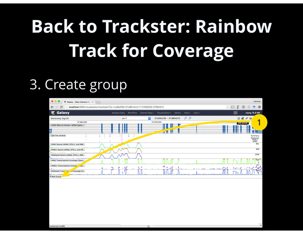Back to Trackster: Rainbow Track for Coverage •...