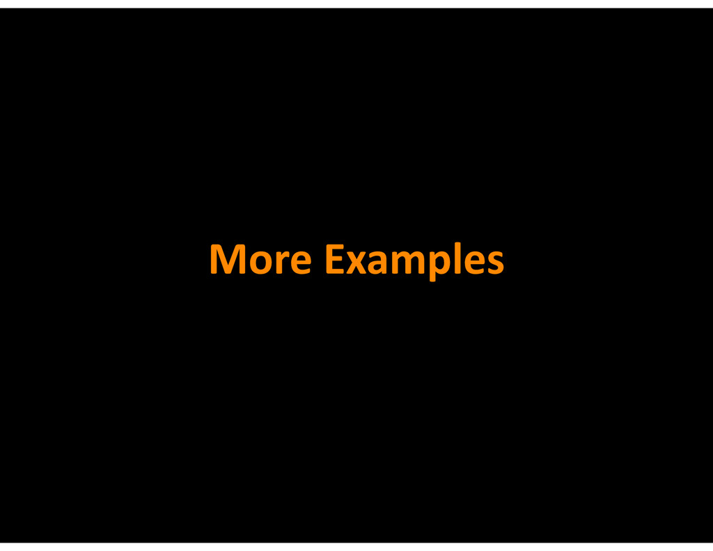 More&Examples
