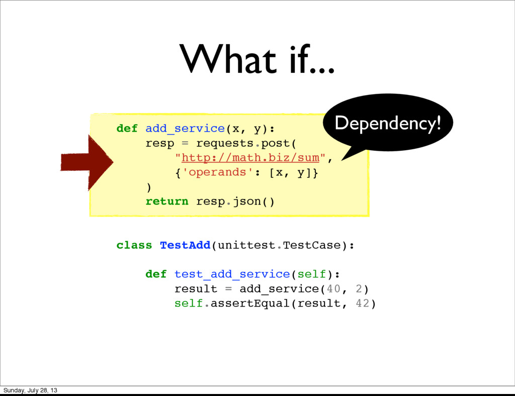 "def add_service(x, y): resp = requests.post( ""h..."