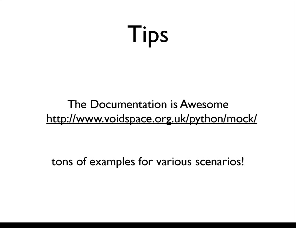 Tips The Documentation is Awesome http://www.vo...