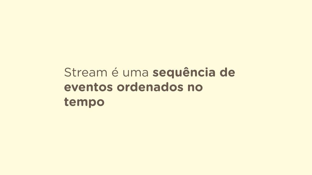 Stream é uma sequência de eventos ordenados no ...