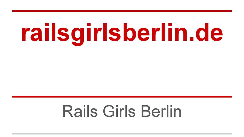 railsgirlsberlin.de Rails Girls Berlin