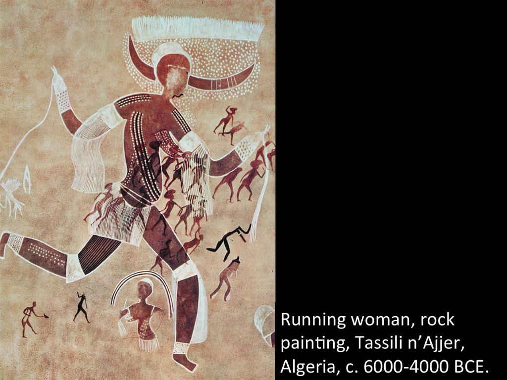 Running(woman,(rock( pain@ng,(Tassili(n'Ajjer,(...