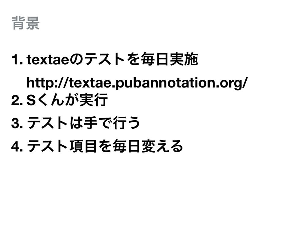 എܠ 1. textaeͷςετΛຖ࣮ࢪ http://textae.pubannotati...