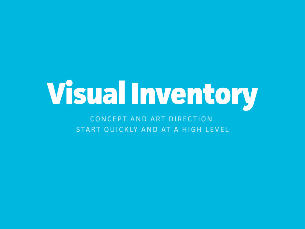 Visual Inventoy CO N C E P T A N D A RT D I R ...