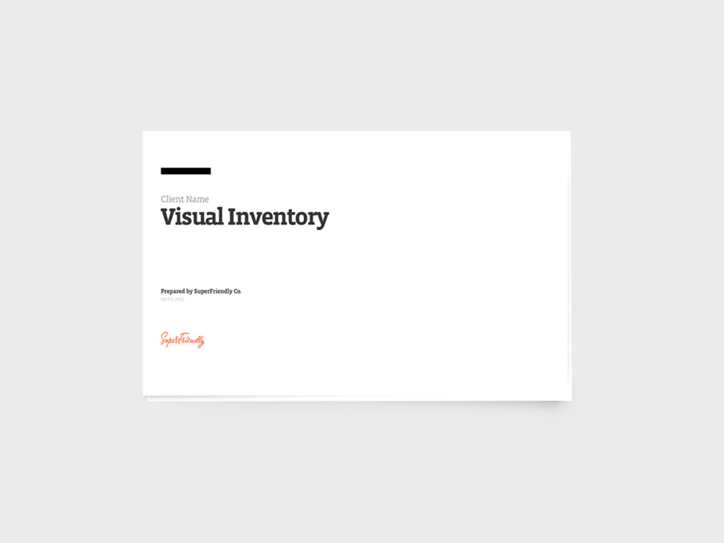 Visual inventory Design by reference